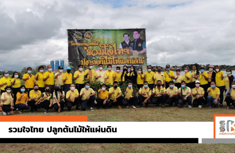 """หน่วยป้องกันและพัฒนาป่าไม้ จัดโครงการ """"รวมใจไทย ปลูกต้นไม้ให้ผ่านดิน"""""""